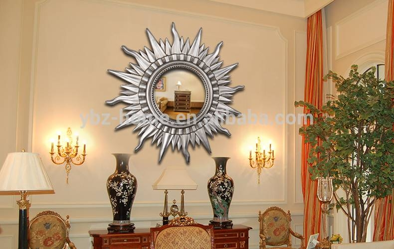 Large Sun Shaped Golden Wall Mirror – Buy Wall Mirror,large Wall With Large Sun Shaped Mirrors (#17 of 20)