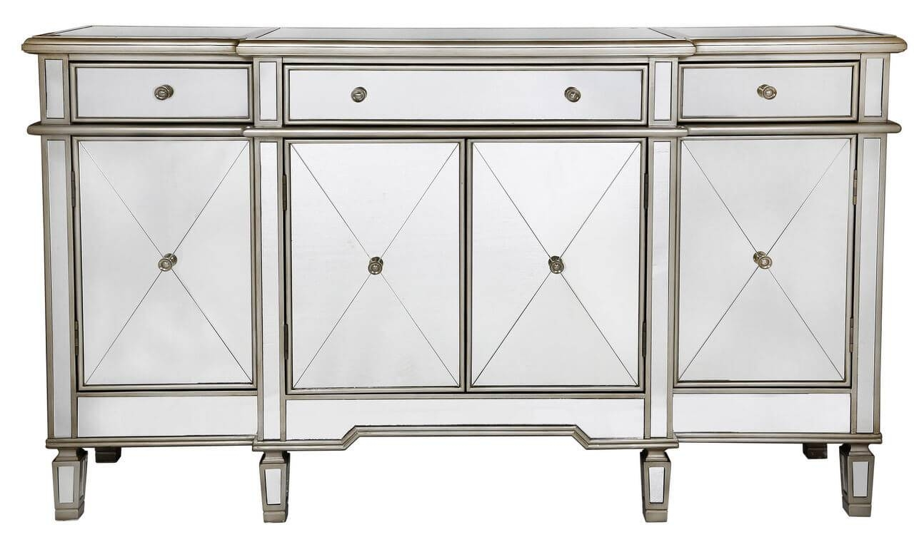 Large Venetian Mirrored Sideboard Within Venetian Mirrored Sideboard (#6 of 20)