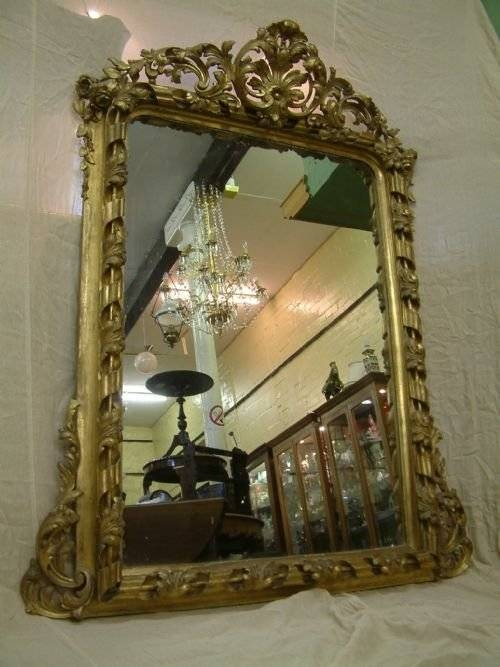 Large Victorian Gilt Framed Mirror | 115304 | Sellingantiques.co (View 17 of 20)