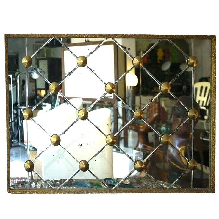 Large Wall Mirror 50S Brass Diamond Designfunky Silver Mirrors In Funky Wall Mirrors (#25 of 30)