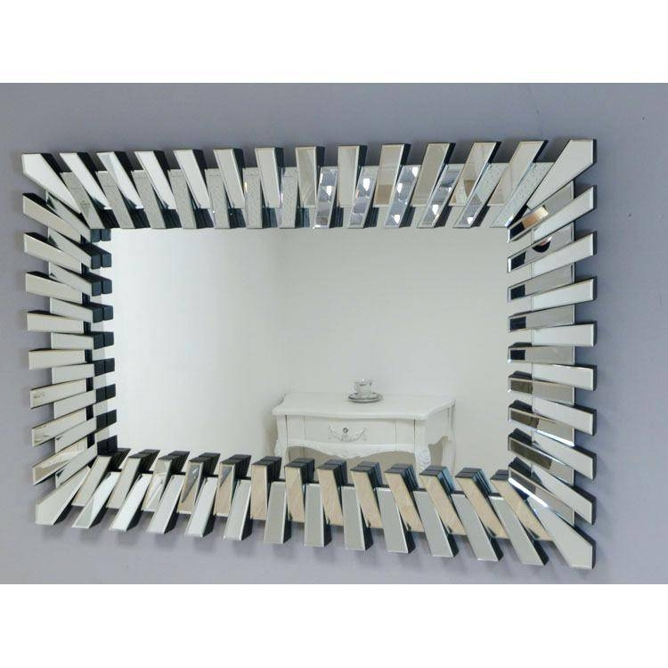 Large Wall Mirror 50S Brass Diamond Designfunky Silver Mirrors Within Large Funky Mirrors (#13 of 15)