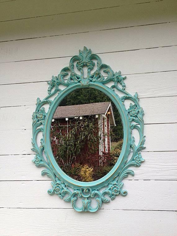 Large Wall Mirror Ornate Nursery Mirror Shabby Chic Mirror Intended For Shabby Chic Large Wall Mirrors (#17 of 20)