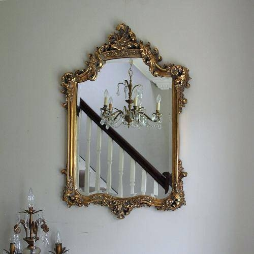 Large Wall Mirror With Gold Frame Decorative Mirrorslarge No Intended For Fancy Wall Mirrors (#18 of 20)
