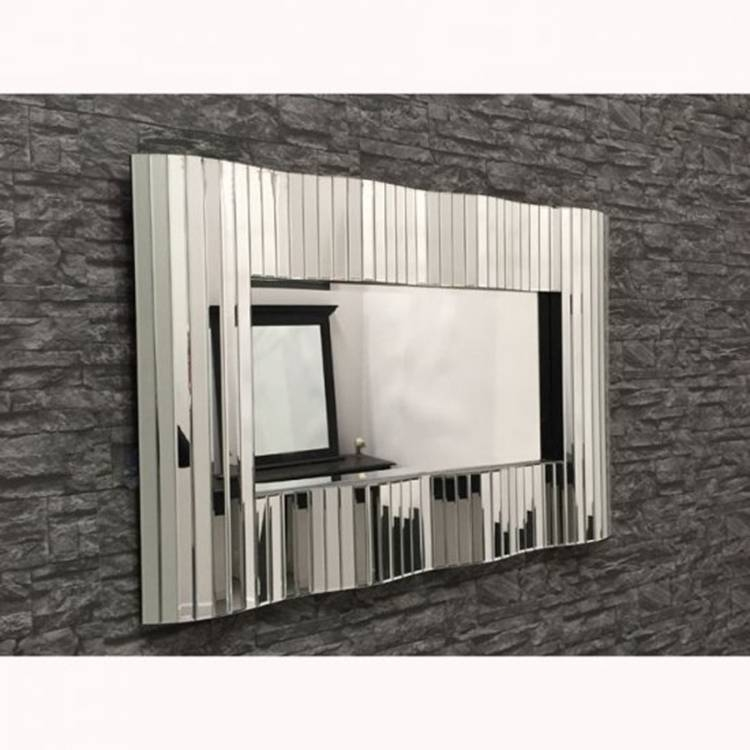 Large 'waves' Mirror 120 X 80Cm Large Waves Mirror 120 X 80Cm In Large Contemporary Mirrors (#16 of 30)