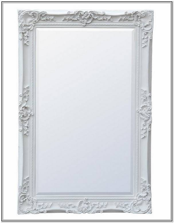 Large White Antique Mirror | Home Design Ideas In White Antique Mirrors (#16 of 20)