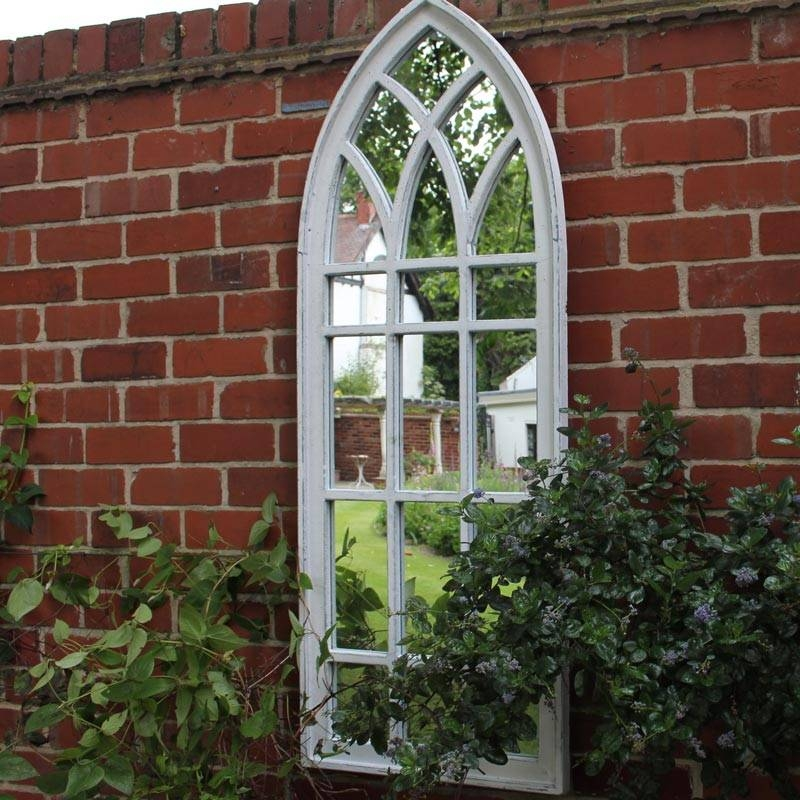 Large White Arch Window Mirror – Melody Maison® In White Arched Window Mirrors (#18 of 20)