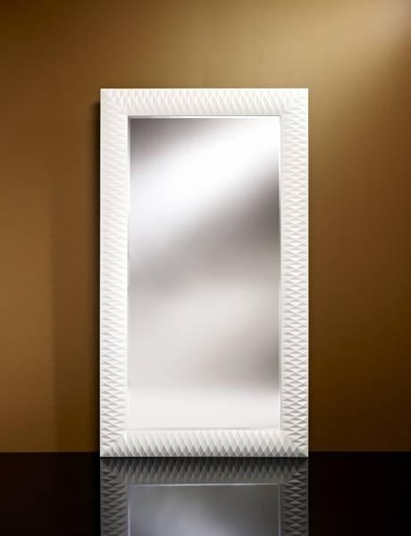 Large White Decorative Mirror Md099 – White | Tindle Lighting Pertaining To White Decorative Mirrors (#15 of 20)