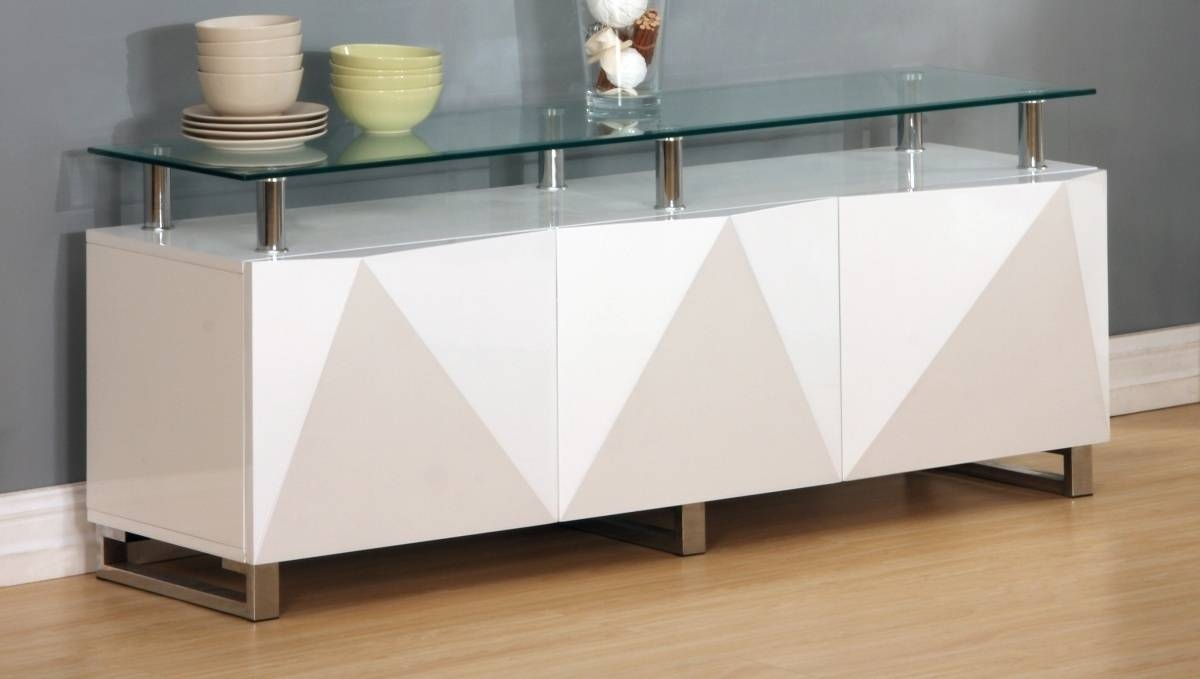 Large White High Gloss Sideboard – Homegenies For Large White Sideboard (#11 of 20)