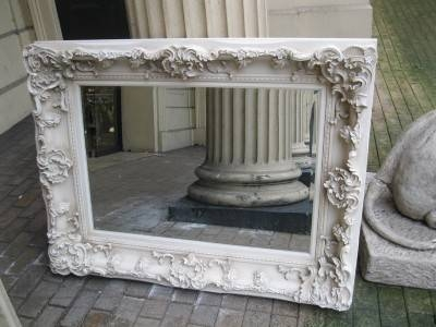 Large White Ornate Mirror, On Antique White Cream Ornate Large Intended For Huge Ornate Mirrors (#24 of 30)