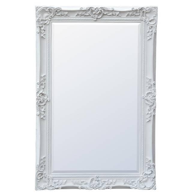 Large White Rococo Mirror Throughout White Rococo Mirrors (#9 of 20)