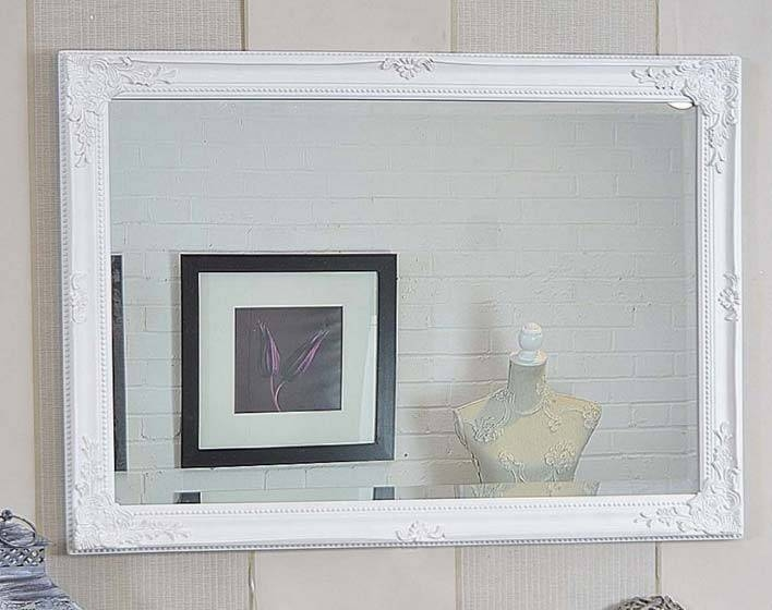 Large White Shabby Chic Mirror – The Shabby Chic Guru Throughout Shabby Chic Mirrors (#10 of 20)