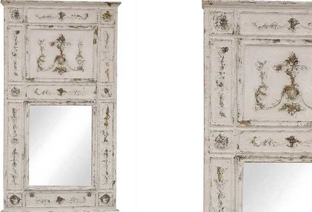 Large Wood Framed Wall Mirror | Decorative Wall Mirrors Antique Regarding Distressed Framed Mirrors (#23 of 30)