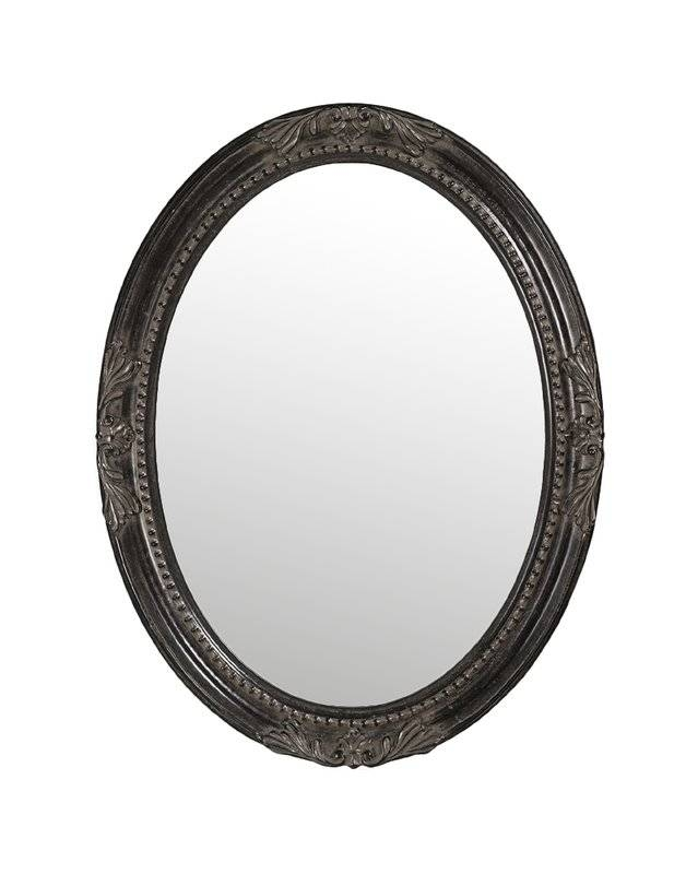 Lark Manor Oval White Wood Wall Mirror & Reviews | Wayfair Intended For White Oval Wall Mirrors (#10 of 30)