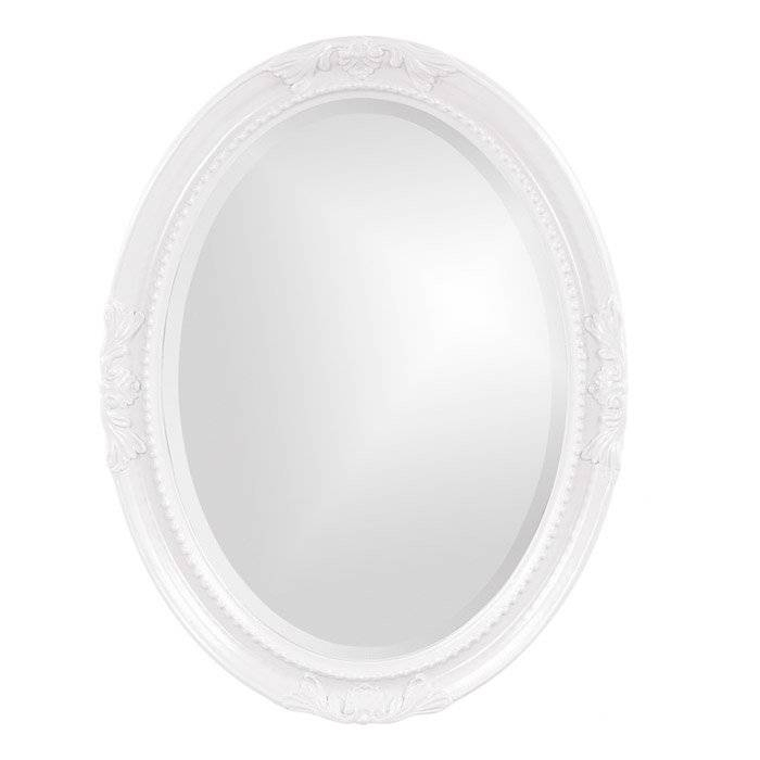 Lark Manor Oval White Wood Wall Mirror & Reviews | Wayfair Intended For White Oval Wall Mirrors (#9 of 30)