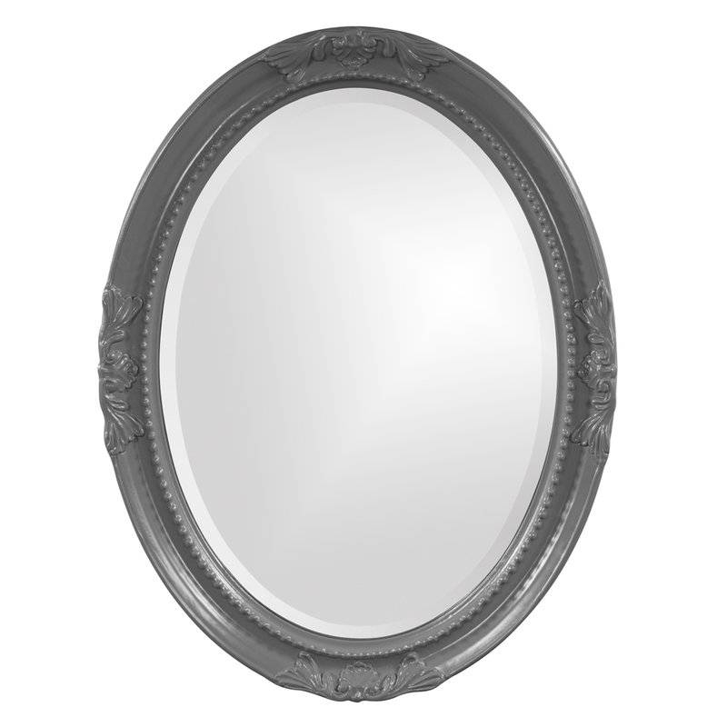 Lark Manor Oval White Wood Wall Mirror & Reviews | Wayfair With Regard To White Oval Wall Mirrors (#11 of 30)
