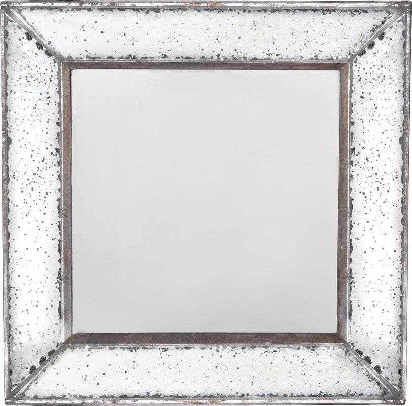 Lark Manor Traditional Square Glass Wall Mirror & Reviews | Wayfair Regarding Square Wall Mirrors (View 7 of 20)