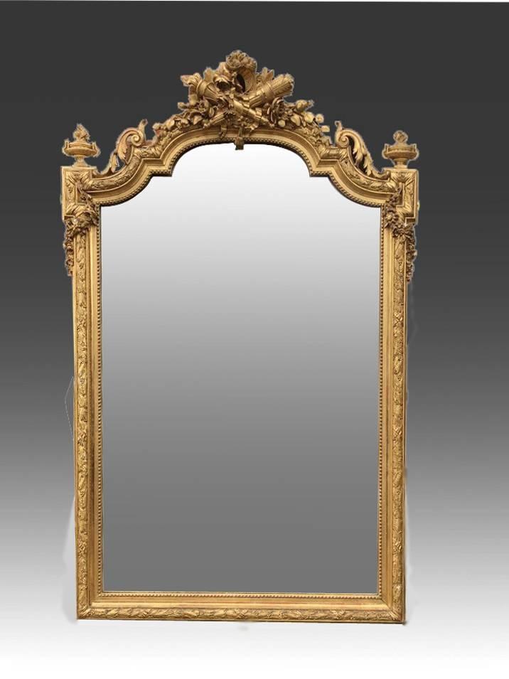 Late 19Th Century Large Ornate Gilt Mirror (C (#20 of 20)