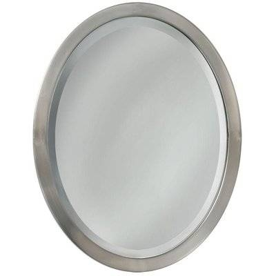 Latitude Run Oval Flat Edge Bathroom/vanity Wall Mirror & Reviews Inside White Oval Wall Mirrors (#13 of 30)