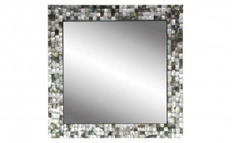 Layla Black Framed Round Wall Mirror Pertaining To Mother Of Pearl Wall Mirrors (#17 of 30)