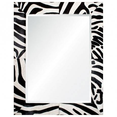 Leather Framed Mirrors – Mirrors – Home Decor In Black Leather Framed Mirrors (#16 of 30)