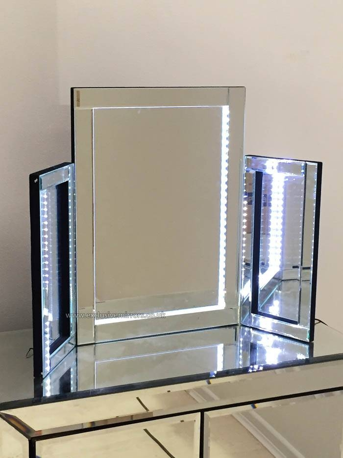 Led Illuminated Dressing Table Mirror W78 X H54Cm Led Illuminated In Dressing Table Mirrors (View 15 of 20)
