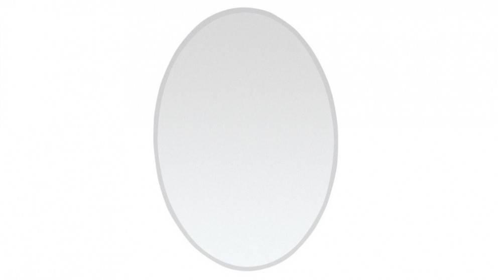 Ledin Bevelled 500X700 Oval Mirror – Bathroom Mirrors – Bathroom Regarding Oval Bevelled Mirrors (#17 of 30)