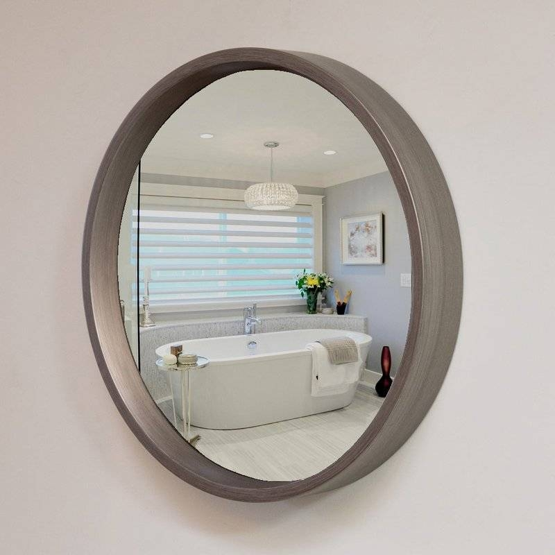 Leland 38 Decorative Convex Wall Mirror & Reviews | Allmodern Regarding Convex Wall Mirrors (#23 of 30)