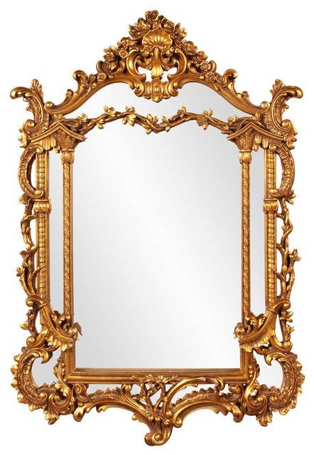 "Levallois Perret Baroque Mirror 34""x49""x3"" – Victorian – Wall In Baroque Gold Mirrors (#18 of 20)"