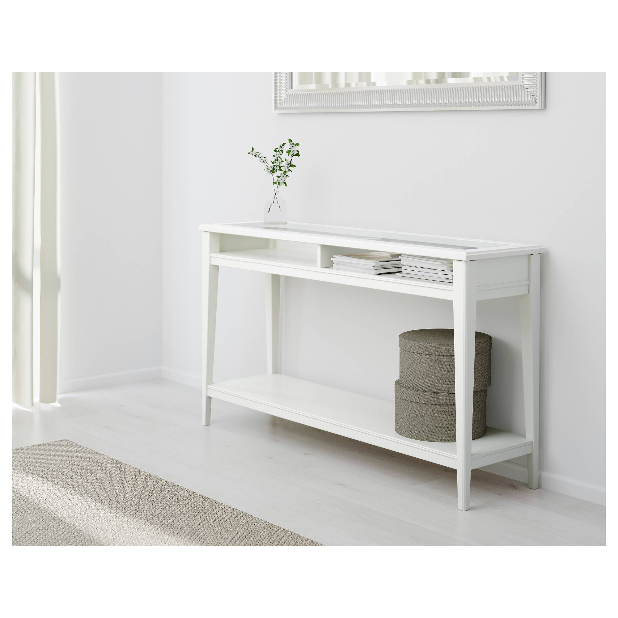 20 Collection of White Glass Sideboard