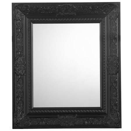 Lido Ornate Black Bevelled Mirror | Frame Today In Black Bevelled Mirrors (#14 of 20)
