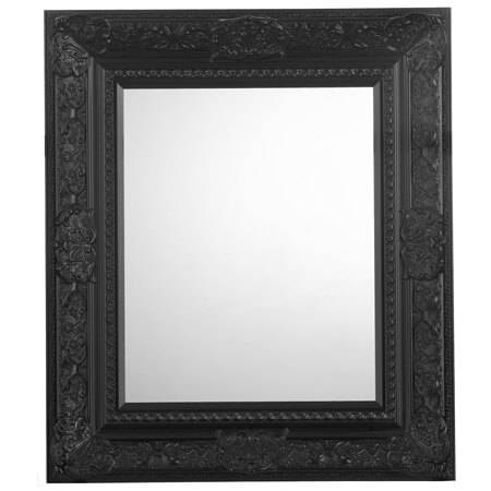 Lido Ornate Black Bevelled Mirror | Frame Today Regarding Black Ornate Mirrors (#24 of 30)