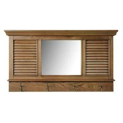 Light Brown Wood – Mirrors – Wall Decor – The Home Depot Throughout Oak Wall Mirrors (#6 of 15)