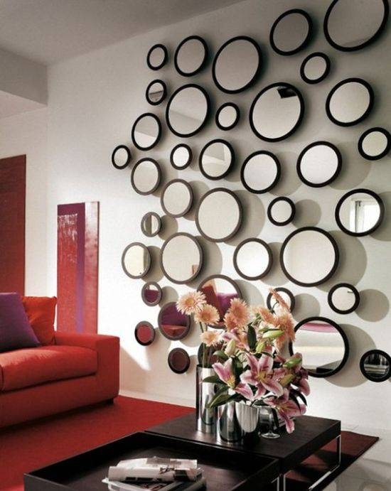 Living Room Decorating Ideas With Mirrors | Ultimate Home Ideas In Funky Round Mirrors (View 27 of 30)