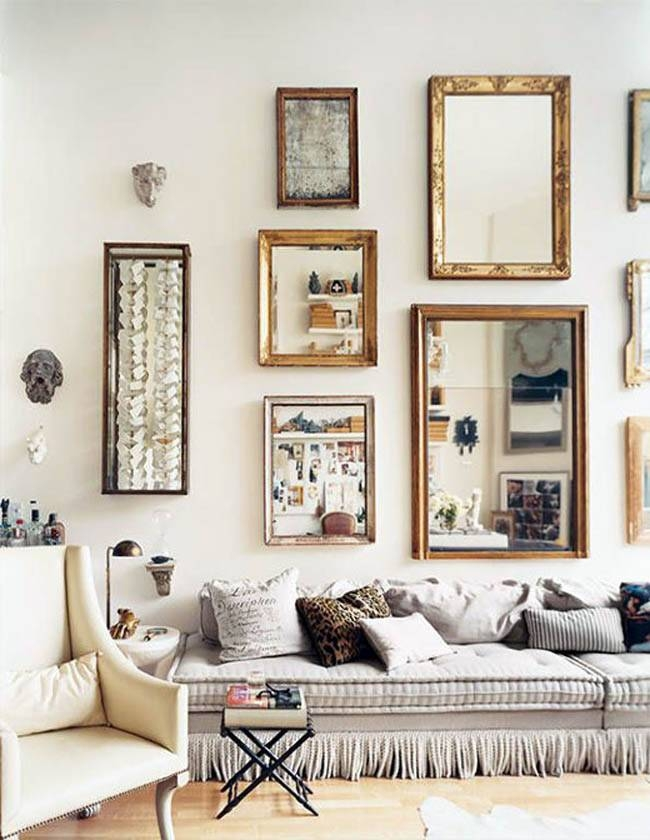 Living Room Wall Mirrors Ideas Vintage Wall Mirrors Living Room Throughout Vintage Wall Mirrors (#9 of 20)
