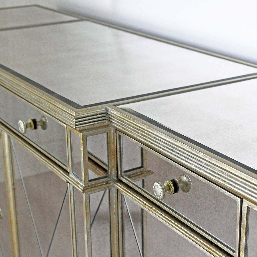 Long Antique Mirrored Sideboardout There Interiors For Venetian Mirrored Sideboard (#7 of 20)