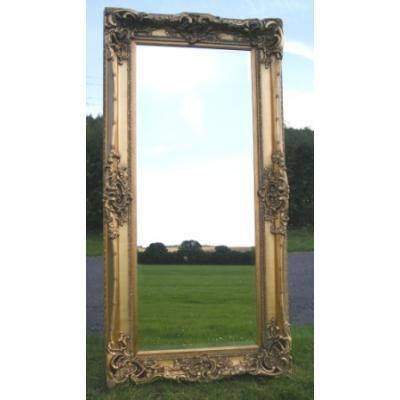 Long Gold Gilt Monaco Dressing Mirror – Ayers & Graces Online For Long Dressing Mirrors (#22 of 30)