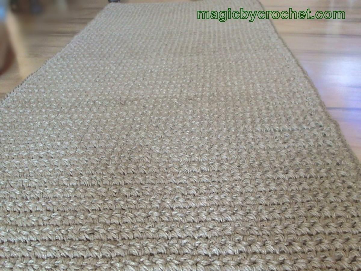 Long Hallway Runner Rug Handmade Jute Crochet Rug No032 Pertaining To Extra Long Hallway Runners (View 17 of 20)