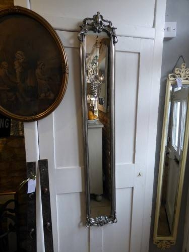 Long Slim Silver Mirror With Regard To Long Silver Mirrors (#20 of 30)