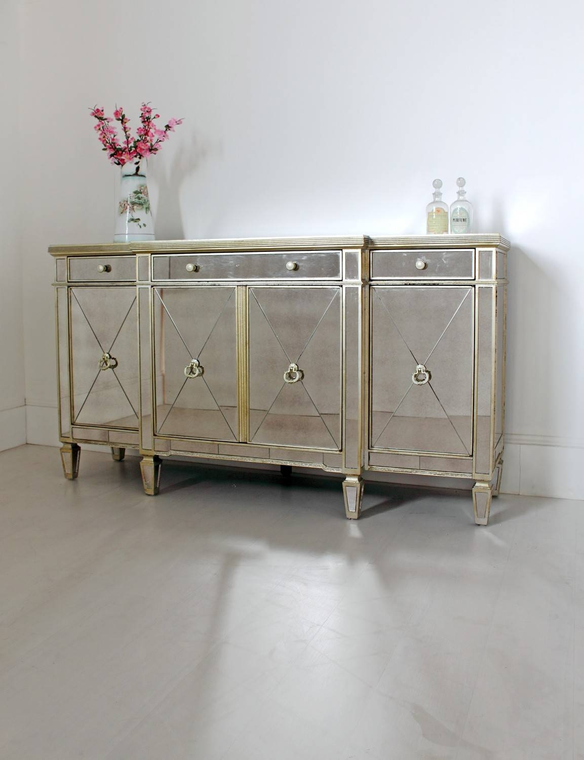 Long Venetian Sideboard Within Long Narrow Sideboard (#11 of 20)