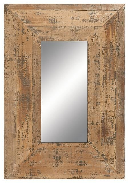 Looking Glass Style Mirror With Old Look Square Frame – Rustic Throughout Old Looking Mirrors (View 8 of 15)