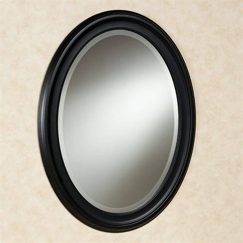 Loree Black Oval Wall Mirror Intended For Black Oval Wall Mirrors (View 14 of 20)