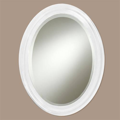 Popular Photo of White Oval Wall Mirrors
