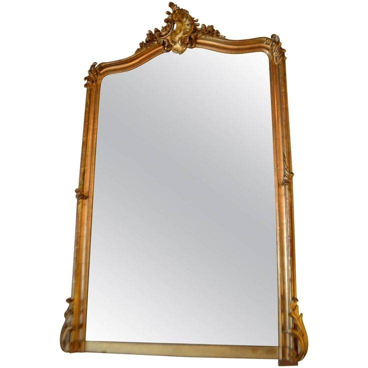 Louis Xv Style Gilded Mirror | Mantel Mirrors, Mantels And Mirror With Mantle Mirrors (#23 of 30)