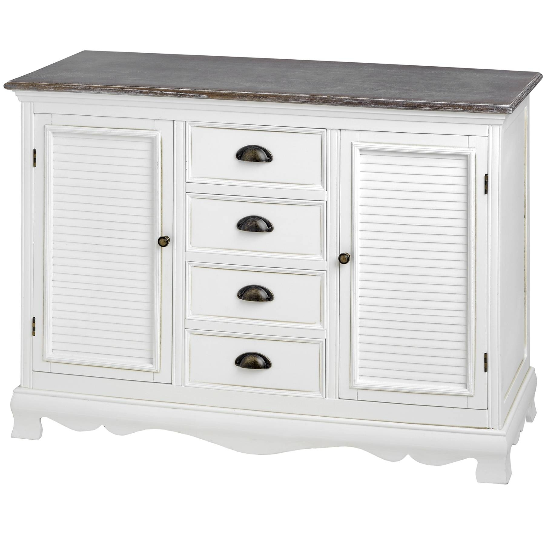 Louisiana White Kitchen Hallway Furniture, Dresser,console Table Pertaining To Large White Sideboard (#13 of 20)