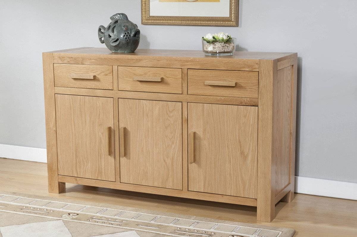 Lucerne Contemporary Oak Large Sideboard | Lucerne Contemporary With Regard To Contemporary Oak Sideboard (View 14 of 20)