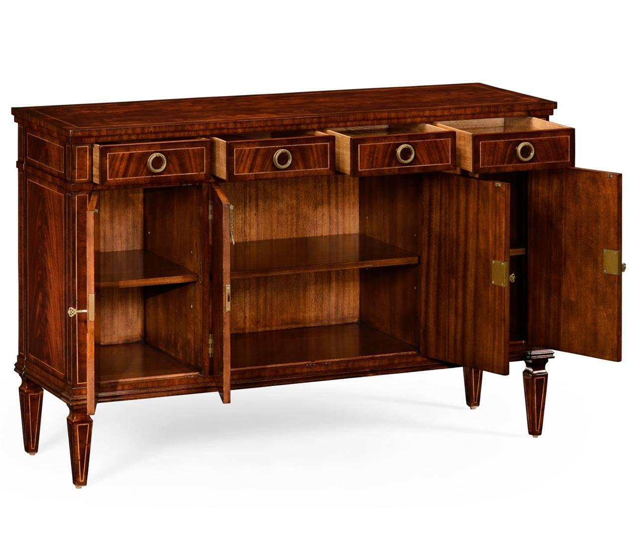 Luxurious Mahogany Sideboard With Inlay Inside Small Sideboard Cabinet (#8 of 20)