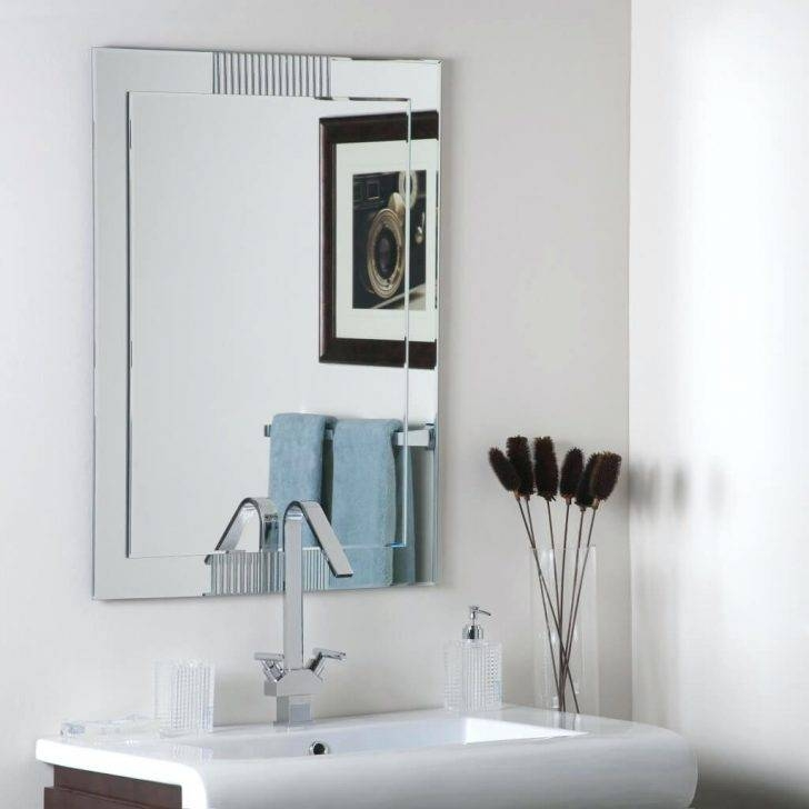 Luxury Frameless Bathroom Mirrors Ideas 62 With Ideasframeless Inside Square Frameless Mirrors (#19 of 30)