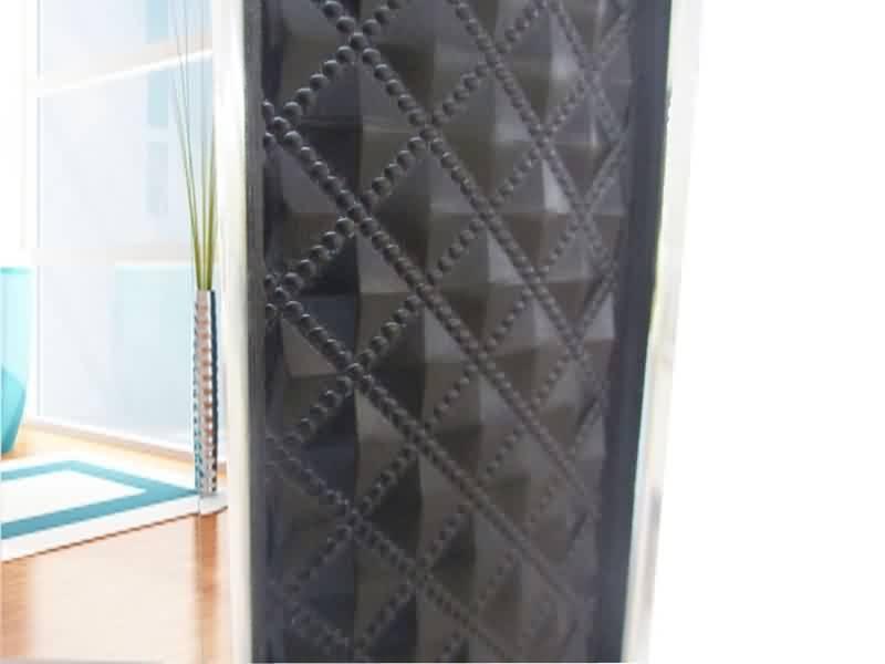 Luxury Rectangle Bathroom Wall Decorative Black Leather Framed Within Black Leather Framed Mirrors (#22 of 30)