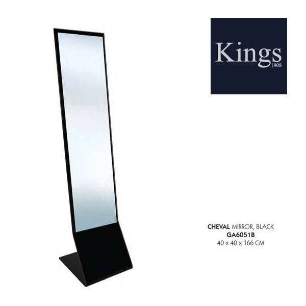 Lychee Cheval Freestanding Glass Mirror Within Black Free Standing Mirrors (#22 of 30)