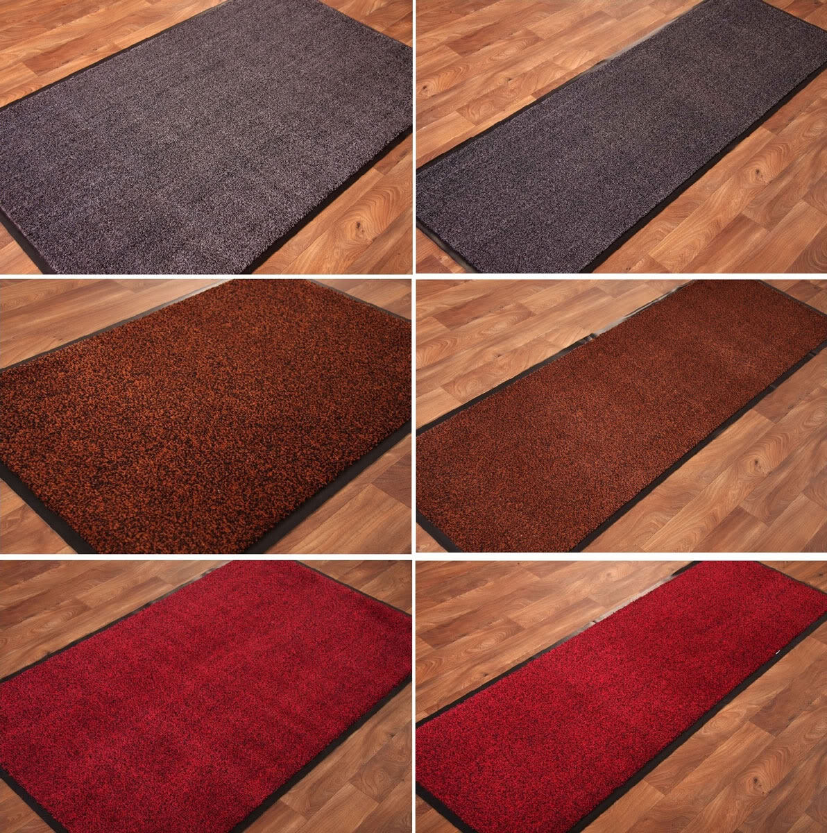 Machine Washable Cotton Barrier Mat Non Slip Rubber Small Large Inside Non Slip Hallway Runners (View 14 of 20)